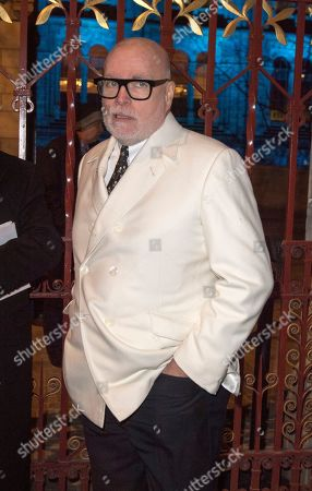 Editorial image of Gary Goldsmith Queues Up To Enter The Conservative Party Fundraising Event The Black And White Party At The Natural History Museum London. Picture - Mark Large .... 07.02.18 Picture - Mark Large 07.02.18.