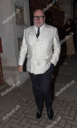 Gary Goldsmith Leaves The Conservative Fund Raising Event The Black And White Party At The Natural History Museum London. 07.02.18  07.02.18.