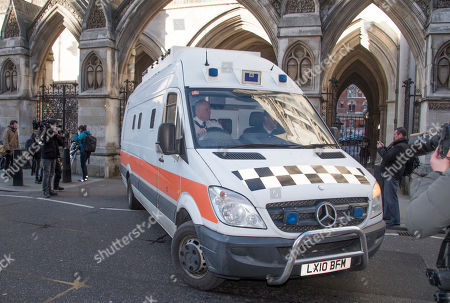 Taxi Rapist John Worboys Is Driven Away From The Royal Courts Of Justice In London Where Judge Sir Brian Leveson Qc Decided His Victims Can Challenge The Parole Board's Decision To Release Him After Serving Only Eight Years. See Story.