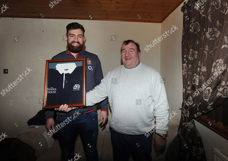 Gary Graham (l) Newcastle Falcons With His Father Ex-scotland International George Graham. 14/02/18