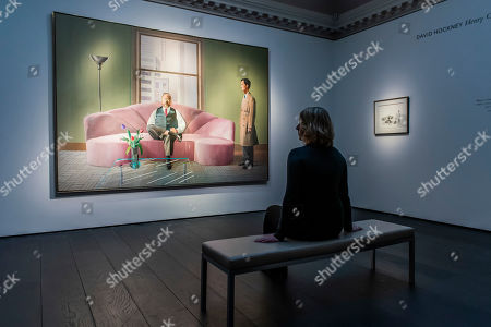 David Hockney, Henry Geldzahler and Christopher Scott, 1969, est £30m with a sketch for the work, est £180-250,000