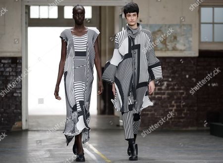 Models present creations from the Fall/Winter 2019/20 Women collection by Japanese designer Yoshiyuki Miyamae for Issey Miyake fashion house during the Paris Fashion Week, in Paris, France, 01 March 2019. The presentation of the Women's collections runs from 25 February to 05 March.