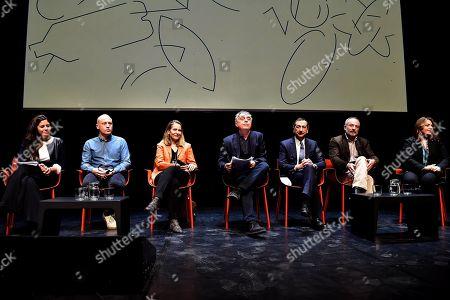Stock Image of Monica Spada, Matt Clark, Paola Antonelli, Stefano Boeri, Giuseppe Sala, Stefano Mancuso and Francesca Lavazza
