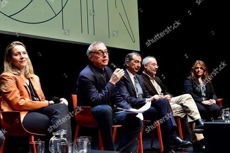 Stock Photo of Paola Antonelli, Stefano Boeri, Giuseppe Sala, Stefano Mancuso and Francesca Lavazza