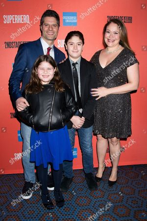 Stock Picture of Tom Kitt, Rita Pietropinto, and family