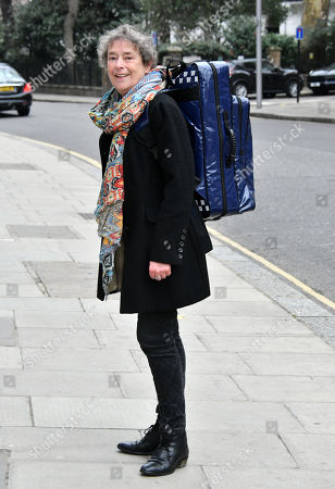 Linda Bassett at the launch of national community midwives' bags