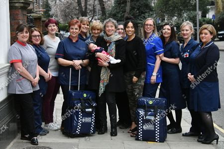 Editorial photo of National community midwives' bags launch, London, UK - 01 Mar 2019