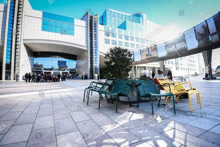 European Parliament in Brussels - Agora Simone Veil