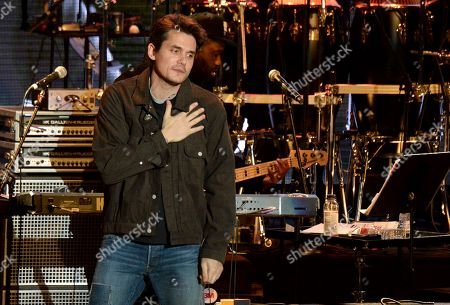 Stock Photo of John Mayer gestures to the crowd during the tribute event Mac Miller: A Celebration of Life at the Greek Theatre in Los Angeles. Mayer is launching a foundation focused on improving the health of veterans through scientific research. The singer on announced The Heart and Armor Foundation, which plans to focus on veterans with post-traumatic stress and meeting the emerging needs of women veterans