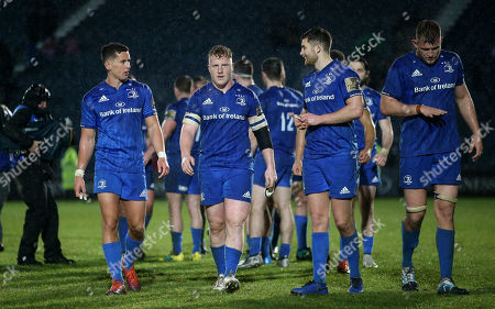 Leinster vs Toyota Cheetahs. Leinster's Noel Reid, James Tracy, Ross Byrne and Ross Molony after the game