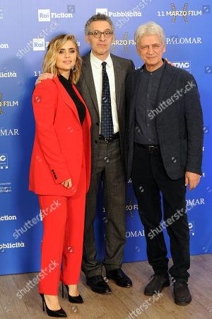 Greta Scarano, John Turturro and Fabrizio Bentivoglio