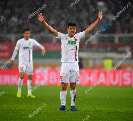 01.03.2019, Football 1. Bundesliga 2018/2019, 24.  match day, FC Augsburg - Borussia Dortmund, in WWK-Arena Augsburg. Ja-Cheol Koo (Augsburg)