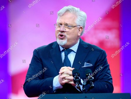 Stock Picture of Glenn Beck of BlazeTV speech at the Conservative Political Action Conference (CPAC) at the Gaylord National Resort and Convention Center