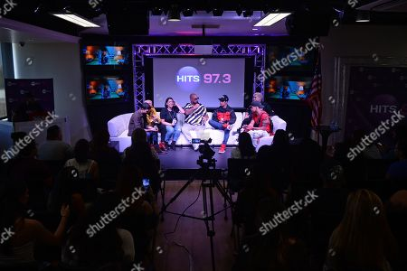 Editorial photo of CNCO at Hits Live at radio station Hits 97.3, Fort Lauderdale, USA - 28 Feb 2019