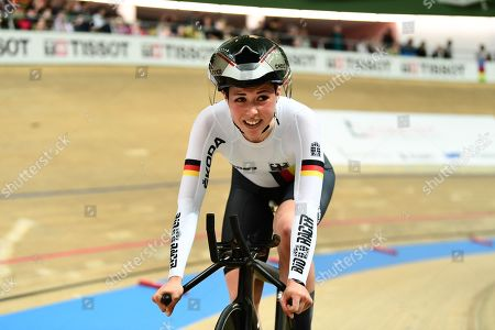 Lisa Klein of Germany races the Women's Individual Pursuit.