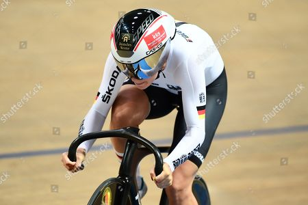 Miriam Welte of Germany races the 500m Time Trial.