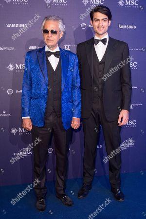 Singer Matteo Bocelli and Tenor Andrea Bocelli