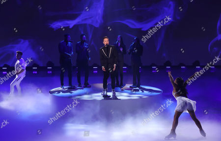 Stock Picture of Olly Murs, Matt Evers and Brandee Malto