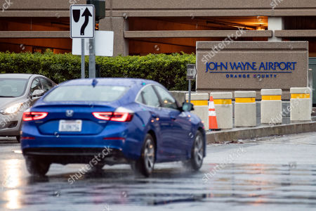 A car accesses the parking of the John Wayne Airport in Santa Ana, Orange County, California, USA, 02 March 2019. Critics are demanding the airport be renamed after a controversy erupted after comments judged to be racist made in an interview with Playboy Magazine in 1971 resurfaced. During the interview, John Wayne is quoted as saying: 'I believe in white supremacy until the blacks are educated to a point of responsibility'.