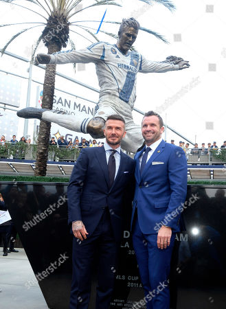 Editorial photo of MLS David Beckham Statue Galaxy Soccer, Carson, USA - 02 Mar 2019
