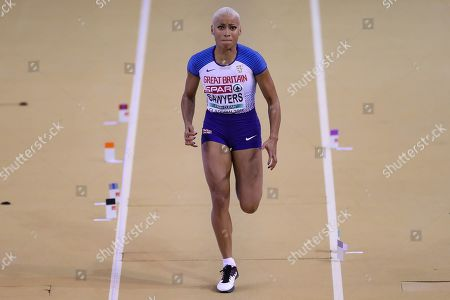 Jazmin Sawyers (Great Britain), Long Jump, during the European Athletics Indoor Championships 2019 at Emirates Arena, Glasgow