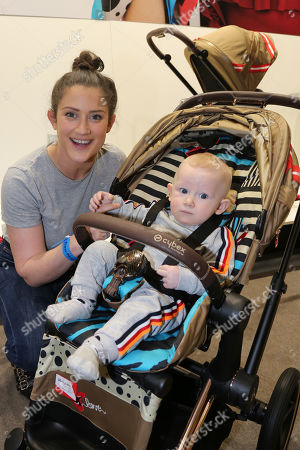 Stock Image of Katie Waissel with her baby, Hudson (7 months old)