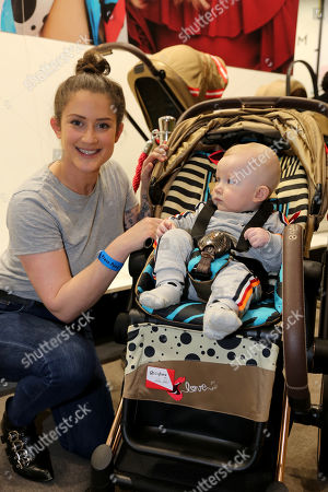 Stock Picture of Katie Waissel with her baby, Hudson (7 months old)