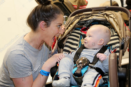 Katie Waissel with her baby, Hudson (7 months old)