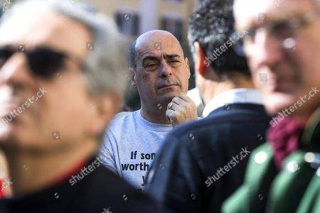 Candidate Nicola Zingaretti (C) waits to cast his ballot in the primary elections for the national secreteriat of the Italian Democratic Party (Partito Democratico, PD), in Rome, Italy, 03 March 2019. PD politicians Maurizio Martina, who replaced Renzi following his resignation in 2018, Roberto Giachetti and Nicola Zingaretti are the main candidates for the Democratic Party's leadership election which was triggered by the party's general election defeat and Renzi's withdrawal in 2018.
