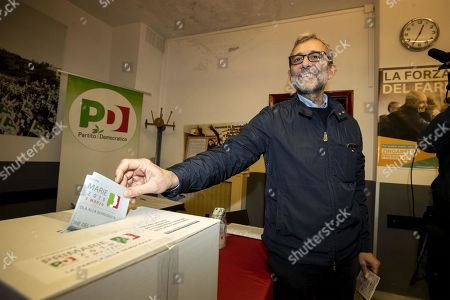 Candidate Roberto Giachetti casts his ballot in the primary elections for the national secretariat of the Italian Democratic Party (Partito Democratico, PD), in Rome, Italy, 03 March 2019. PD politicians Maurizio Martina, who replaced Renzi following his resignation in 2018, Roberto Giachetti and Nicola Zingaretti are the main candidates for the Democratic Party's leadership election which was triggered by the party's general election defeat and Renzi's withdrawal in 2018.