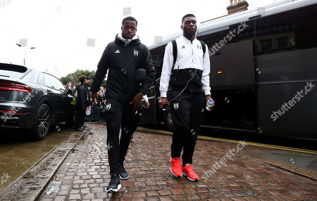 Ryan Sessegnon and Timothy Fosu-Mensah of Fulham arrive.