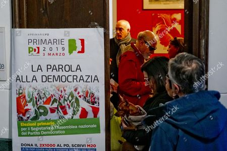 Editorial photo of Election of the national secretariat of the Italian Democratic Party, Naples, Italy - 03 Mar 2019
