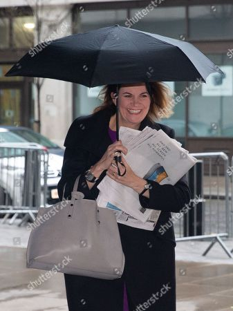 Julia Hartley-Brewer, Journalist and presenter, arrives for The Andrew Marr Television Show, at the BBC Studios, London.