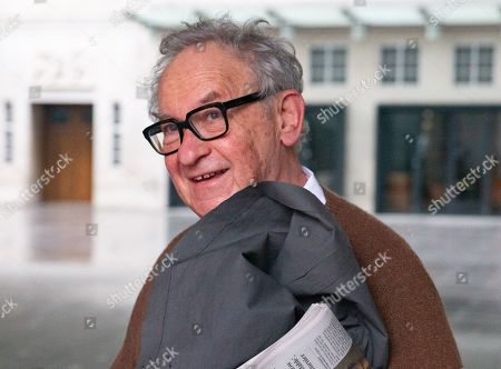 Historian, Simon Schama, arrives for The Andrew Marr Television Show, at the BBC Studios, London.