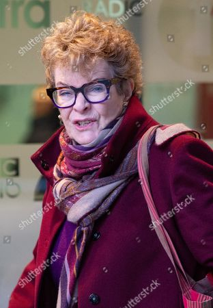 Dame Janet Suzman, DBE,  South African/British actress,  arrives at the BBC Studios, London.