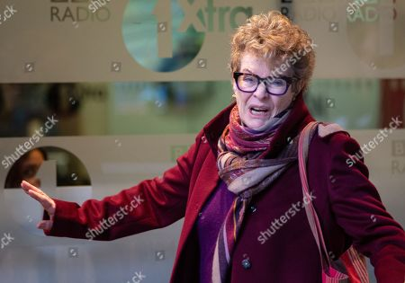 Stock Image of Dame Janet Suzman, DBE,  South African/British actress,  arrives at the BBC Studios, London.