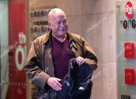 Stock Picture of John Pienaar leaves the BBC Studios, London.