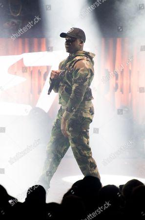 Michael Dapaah performing as Big Shaq