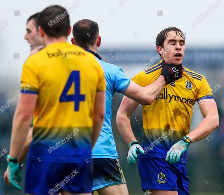 Roscommon vs Dublin. Dublin's Cormac Costello clashes with David Murray of Roscommon