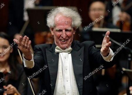 Editorial image of Octogenarian Conductor-Q&A, Cambridge, USA - 14 Feb 2019