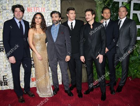 J.C. Chandor, Adria Arjona, Oscar Isaac, Garrett Hedlund, Pedro Pascal, Charlie Hunnam and Ben Affleck