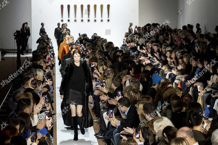Models lead by Canadian model Coco Rocha present creations from the Fall/Winter 2019/20 Women collection by Swiss designer Albert Kriemler for Akris fashion house during the Paris Fashion Week, in Paris, France, 03 March 2019. The presentation of the Women's collections runs from 25 February to 05 March.