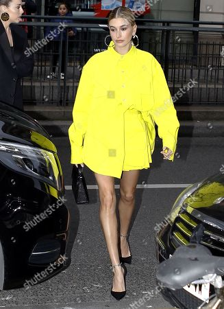 Editorial picture of Hailey Bieber out and about, Paris Fashion Week, France - 03 Mar 2019