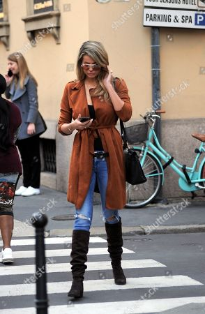 Editorial picture of Natalia Bush out and about, Milan, Italy - 02 Mar 2019