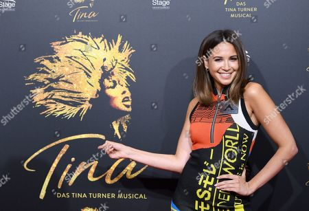 Stock Image of Singer Mandy Capristo arrives for the premiere of the new musical 'TINA' in Hamburg, northern Germany, 03 March 2019. The musical will deal with the life of the singer Tina Turner. The 79-year old has sold over 200 millions of records and won 12 Grammy's.