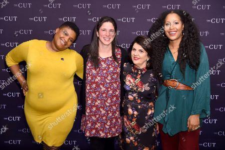 Stock Photo of Jessamyn Stanley, Rebecca Traister, Susan Miller and Sade Lythcott