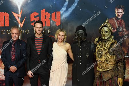 Udo Kier, Russianâ??German actor Vladimir Burlakov, German actress Julia Dietze and movie characters arrive for the premiere of the movie 'Iron Sky: The Coming Race' in Berlin, Germany, 03 March 2019. The movie 'Iron Sky: The Coming Race' will screen from 21 March 2019 in German cinemas.