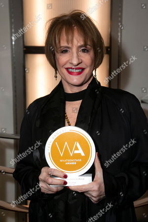 Patti Lupone accepts the award for Best Supporting Actress in a Musical