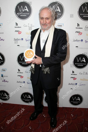 Stock Image of Nick Allott accepts the award for Best West End Show for Les Miserables