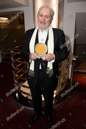 Stock Photo of Nick Allott accepts the award for Best West End Show for Les Miserables